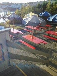Outdoor Seating at the Lobster Dock